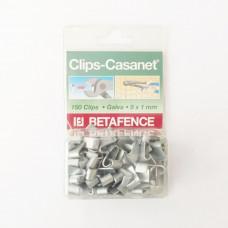 CLIPS CASANET TP 8X1MM 150ST