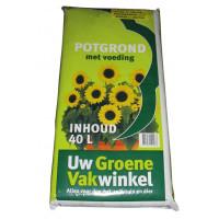 GROENE VAKWINKEL POTGROND 40L EURO